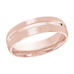 MALO 10K Pink Gold Wedding Band FT-840-6P-01
