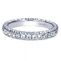 Anniversary Band 14k White Gold Contemporary Eternity Band