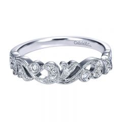 Anniversary Band 14k White Gold Diamond Stackable