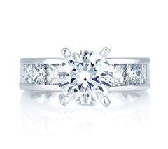 Classic Princess Channel Set Engagement Ring
