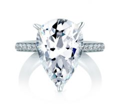 Pear Statement Engagement Ring