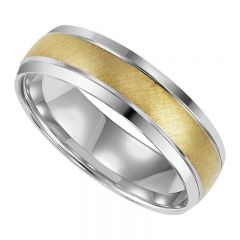 Gold Two Tone Gents Band MGB1006