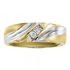 14K Diamond Men's Band