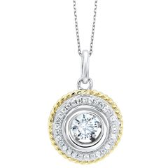 Two-Tone Pendant PD10053-SS
