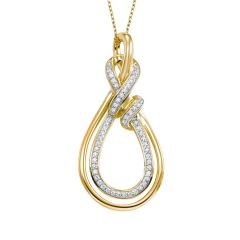 14k Yellow Gold Pendant PD10182-4YSC