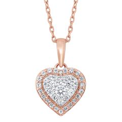 14k Rose Gold Pendant PD10365-4PDSC