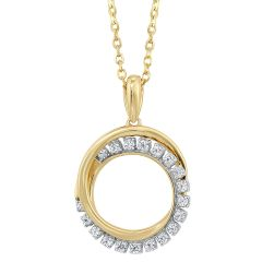 Gold Diamond Pendant 1/10ctw