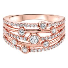 14k Rose Gold Fashion Ring RG10264-4PC