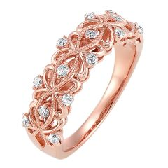Gold Diamond Ring 1/4 ctw