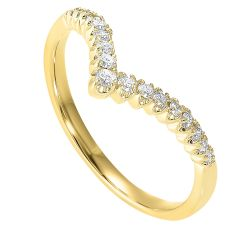 Gold Diamond Ring 1/5 ctw