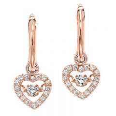 10K Rose Gold Diamond Rhythm Of Love Earrings 1/5 ctw ROL1022R