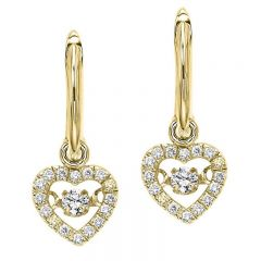 10K Diamond Rhythm Of Love Earring 1/5 ctw ROL1022Y