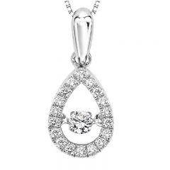 10K Diamond Rhythm Of Love Pendant 1/5 ctw ROL1023