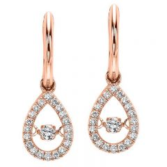 10K Rose Gold Diamond Rhythm Of Love Earrings 1/5 ctw ROL1024R