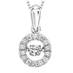 10K Diamond Rhythm Of Love Pendant 1/5 ctw ROL1025