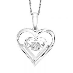 Silver Diamond Rhythm Of Love Pendant ROL1045