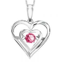 Silver Pink Tour Rhythm Of Love Pendant ROL1132