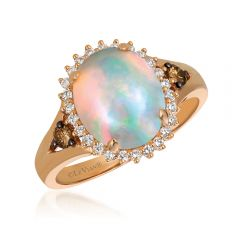 Le Vian® 14k Strawberry Gold® Neopolitan Opal™ Vanilla Diamond® Halo Ring