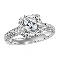 14K Diamond Engagement Ring 7/8 ctw with 3/4 ct Center