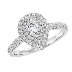 14K Diamond Engagement Ring 1/2 ctw With 1/2 ct P/S Center