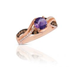Le Vian Chocolatier® 14k Strawberrry Gold® Cotton Candy Amethyst® Swirl Ring