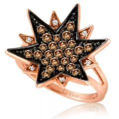 Le Vian Red Carpet® 14k Strawberry Gold® Ring with Chocolate Diamonds® and Vanilla Diamonds®