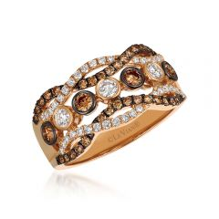 Le Vian 14K Strawberry Gold® Chocolate Diamond Ring YQSX 69
