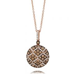 Le Vian Chocolatier® 14k Strawberry Gold® Necklace with Chocolate Diamonds® and Vanilla Diamonds®