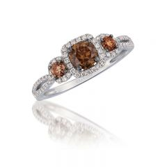 Le Vian Chocolatier® 14k Vanilla Gold® Ring with Chocolate Diamonds® and Vanilla Diamonds®