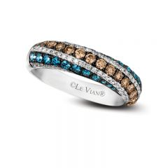 Le Vian Exotics® 14k Vanilla Gold® Iced Blueberry Diamonds Ring with Chocolate Diamonds® and Vanilla Diamonds®