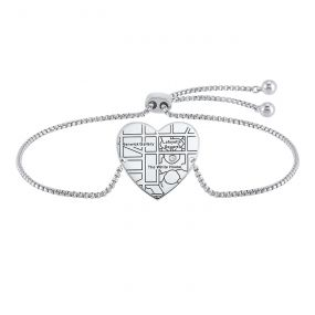 Sterling Silver Diamond Customizable Bracelet BC10073-SSW