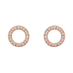 14k Rose Gold Earring ER10022-4PSC