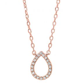 14k Rose Gold Pendant PD10033-4PSC