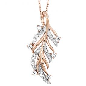 14K Diamond Pendant 1/5 ctw PD10358-4PC