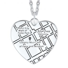 14k White Gold Customizable Diamond Heart Pendant PD10374-4W