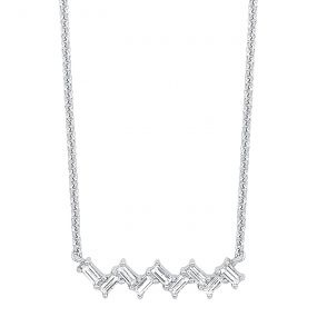 14k White Gold Necklace PD30959-4WC